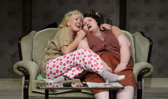 Beverley Callard as Mari Hoff and Sally Plumb as Sadie in Little Voice