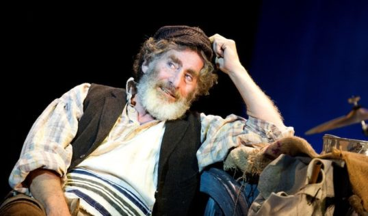 Paul Michael Glaser as Tevye keeps the energy levels high. Photo © Tristram Kenton