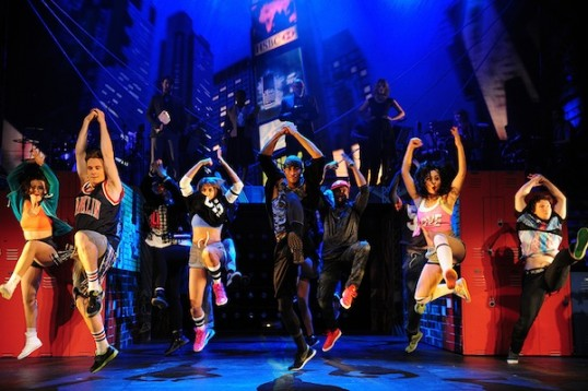 Tyrone and the dancers. Photo: Fame the Musical