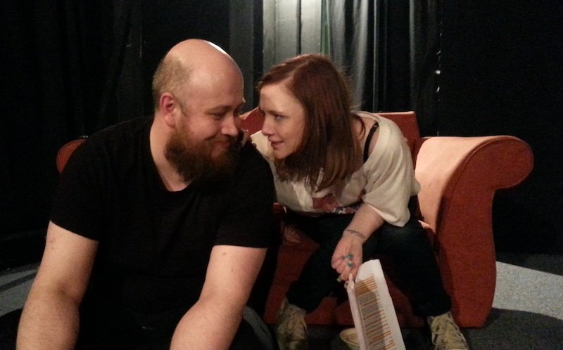 Ben Blow and Kate Foley-Scott in rehearsal