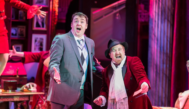 The Producers UK Tour 2015 – Jason Manford as Leo Bloom and Cory English as Max Bialystock – photo credit Manuel Harlan