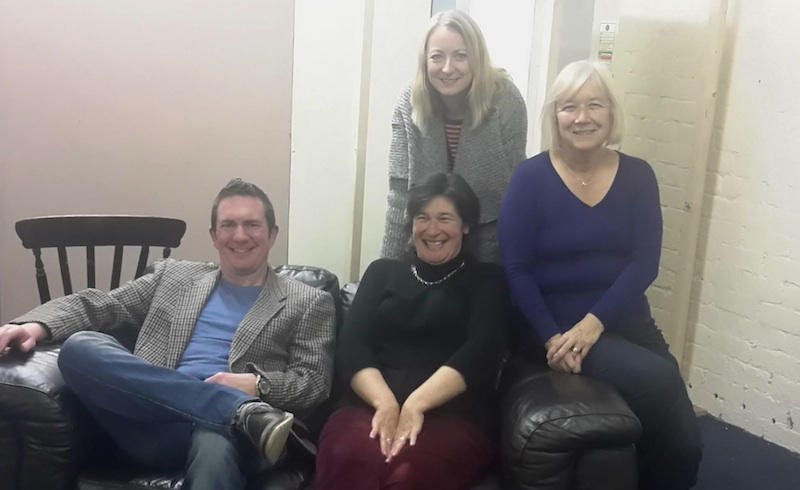 Losers – Euan McIntyre, Fiona Robertson, Lynne Morris (standing) and Sally Pagan