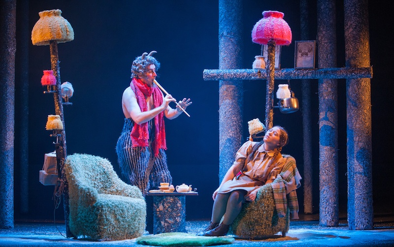 Ewan Donald and Claire-Marie Seddon as Mr Tumnus & Lucy. Photo Tommy Ga-Ken Wan