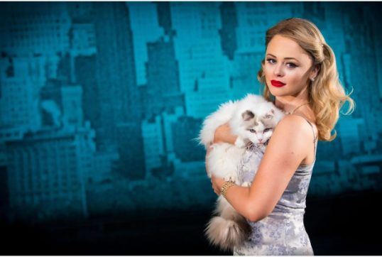 Emily Atack as Holly Golightly. Photo: Sean Ebsworth Barnes