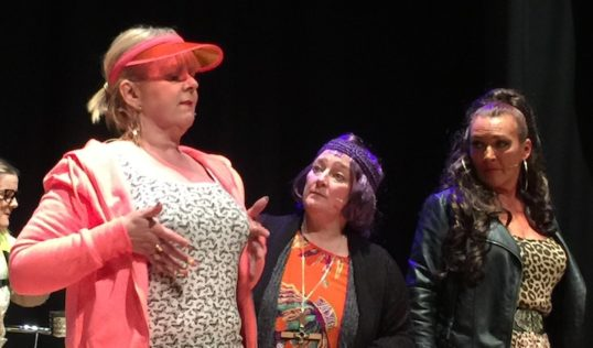 Fiona Robertson, Elaine Clark and Janice Bruce. Photo The Twilighters