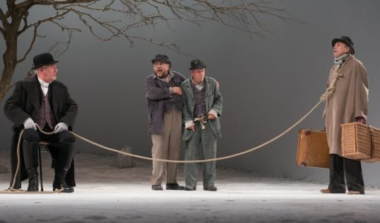 John Bett, Brian Cox, Bill Paterson and Benny Young in Waiting for Godot. Photo Alan McCredie