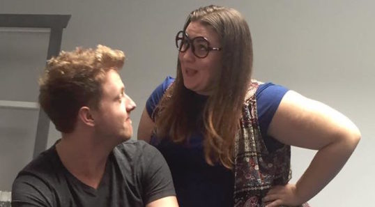 Boston Alexander and Rebecca Divine in rehearsals. Photo: Hysterically Human