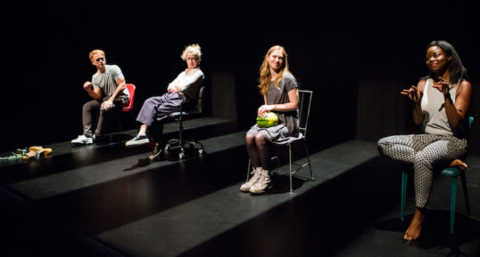 Robert Boulter, Beth Park, Emma Fielding and Emmanuella Cole. Photo: Sally Jubb