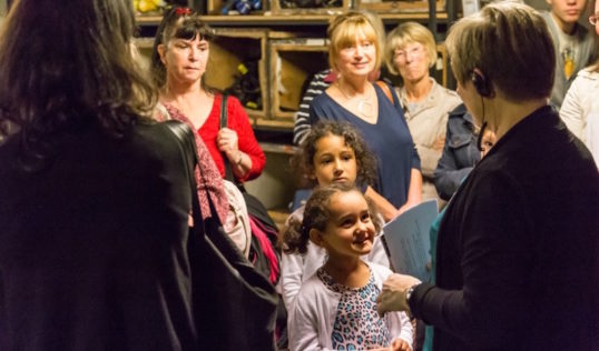 A back stage tour led by Theatre Manager Jacqui Nagib. Photo Aly Wight
