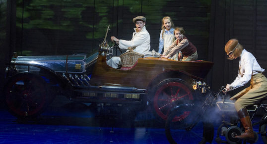 The fine four-fendered friend in action. Chitty Chitty Bang Bang