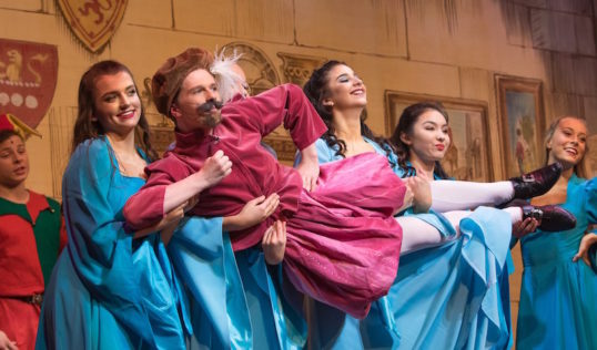 It's hard to be the Bard - David Coventry and dancers. Photo: Ryan Buchanan