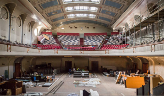 Citadel Theatre, Leith. The auditorium from the stage. Photo Chris Scott Photography