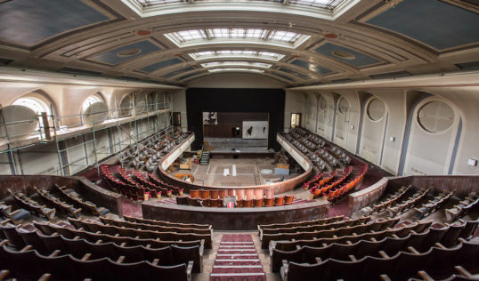 Citadel Theatre, Leith. Looking from the circle down to the stage. Photo: Chris Scott Photography