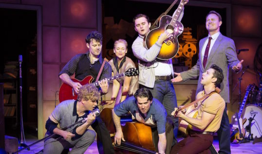 The cast of Million Dollar Quartet. Photo Darren Bell