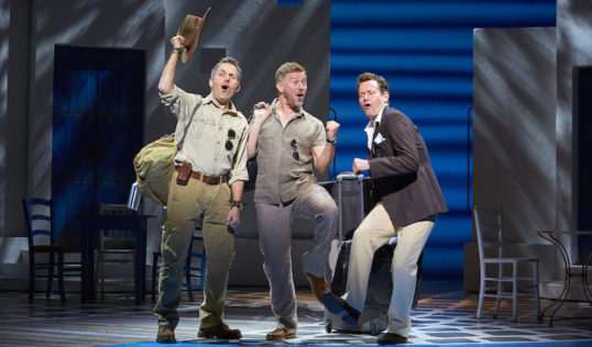 Christopher Hollis (Bill), Richard Standing (Sam) and Tim Walton (Harry) . Photo: Brinkhoff/Mögenburg
