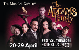 Click here to book for The Addams Family at the Festival Theatre in April