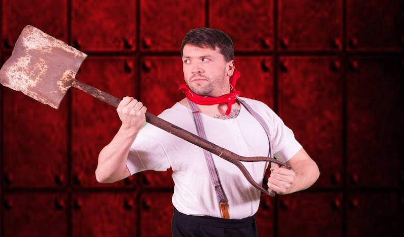 Craig Young as Frederick Barrett, Stoker on the Titanic. Photo: SLO