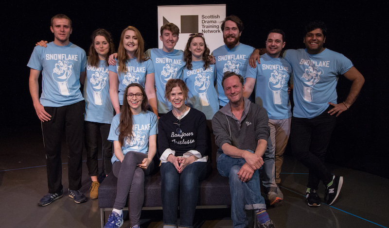 Snowflake cast with Siobhan Redmond and Mark Thomson credit Heather Pasfield, Pleasance Picture Show