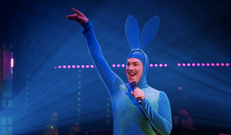 Scotty the Blue Bunny in La Clique Noel Pic Ian Georgeson