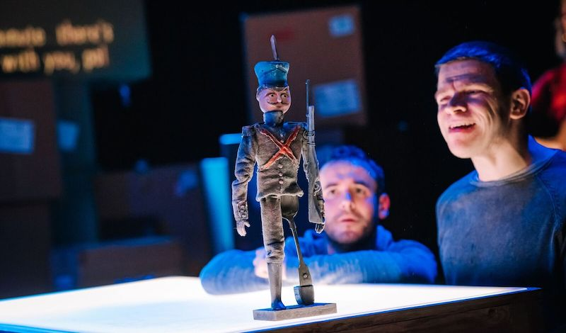 Joseph Brown and Robert Softley Gale with The Tin Soldier. Credit Mihaela Bodlovic