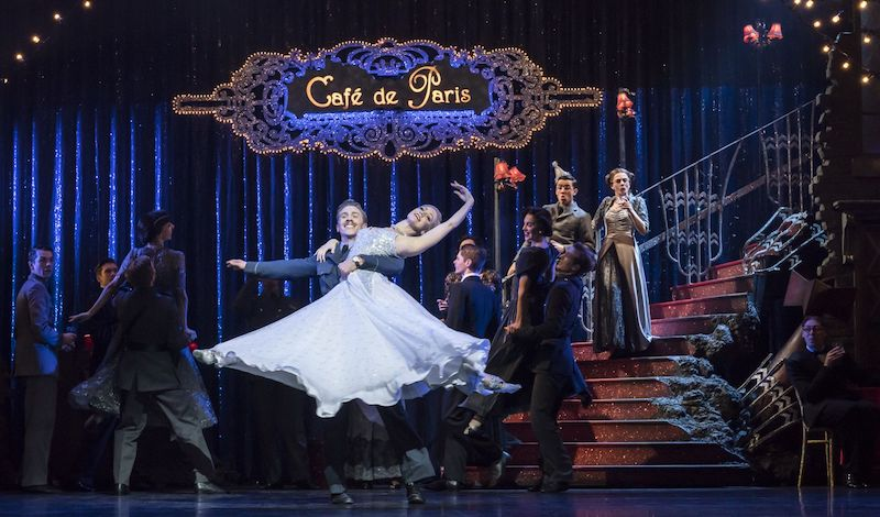 MATTHEW BOURNE'S CINDERELLA Andrew Monaghan 'Harry', Ashley Shaw 'Cinderella' and The Company Pic Johan Persson