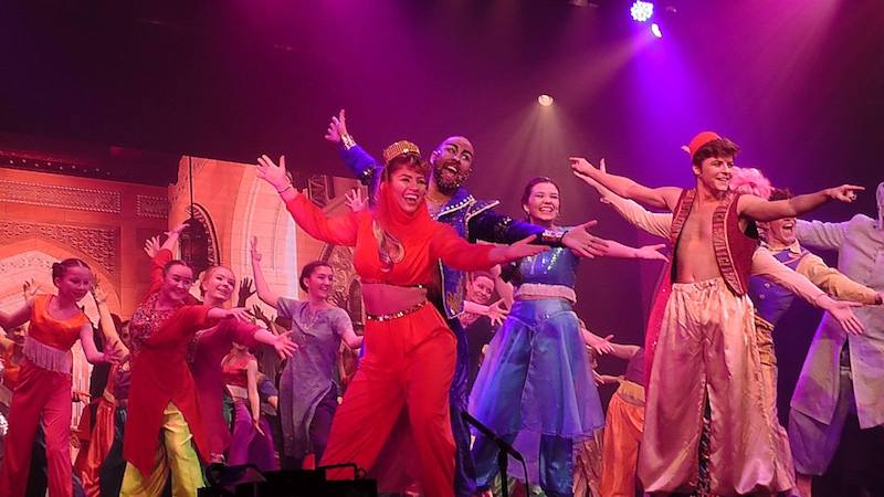 The cast of Aladdin. Pic Mike Ferrigan