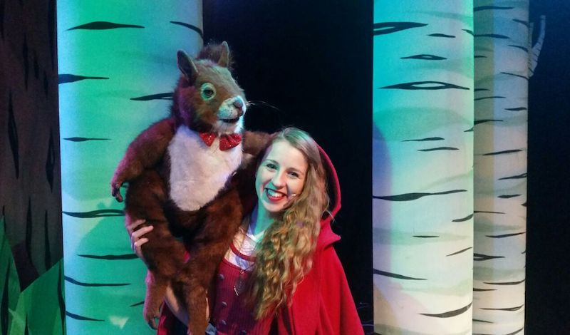 Zoe Halliday as Little red with Stanley Pic Simon Beattie
