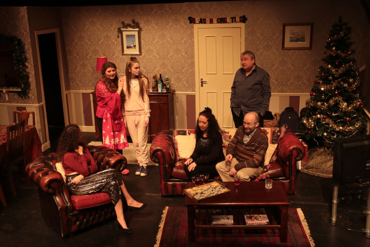 Mia Oudeh, Fiona Main, Rebekah Lansley, Elspeth Whyte, Chris Cotter and (standing) Simon Boothroyd. Pic Ross Main