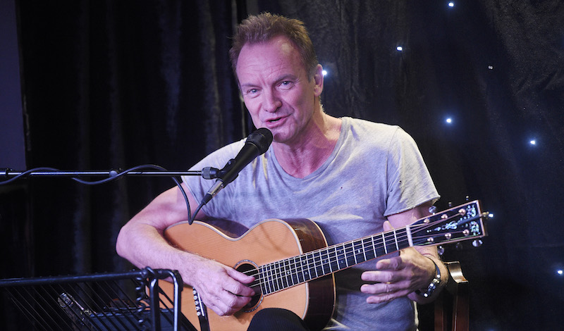 Sting performs in the launch at the Leith Dockers Club. Pic Greg Macvean