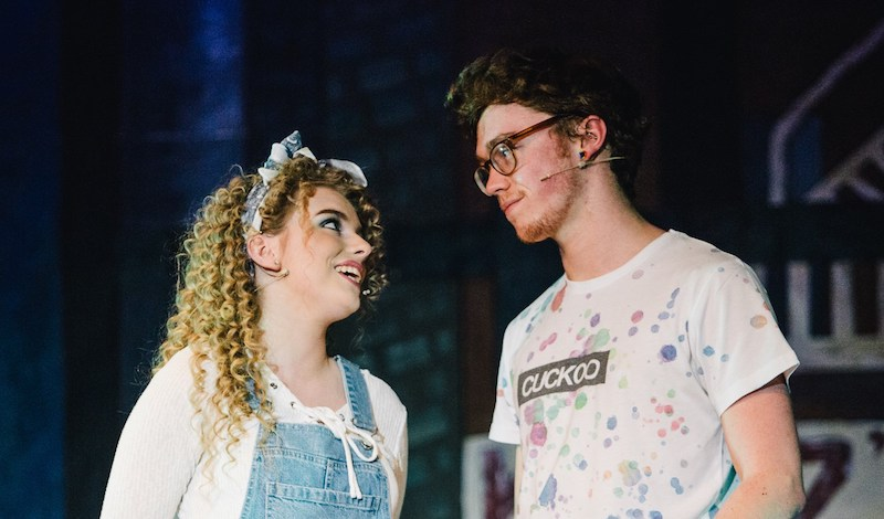 Alice Hoult and Adam Makepeace. Pic Andrew Perry