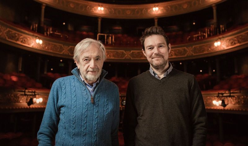 Bill Forsyth and David Greig in the Lyceum. Pic Mihaela Bodlovic