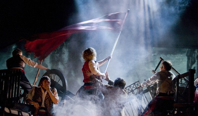 LES MISERABLES Barricades 2 Pic Michael Le Poer Trench. Copyright CML