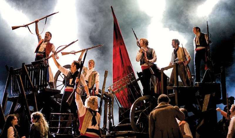 LES MISERABLES. Barricades PIc Michael Le Poer Trench Copyright CML