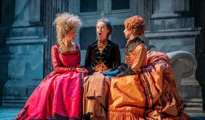 Nicola Roy, Helen Mackay and Pauline Knowles in The Belle's Stratagem. Pic Mihaela Bodlovic