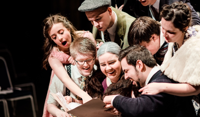 Buoso's family in Gianni Schicchi. Pic Andrew Perry