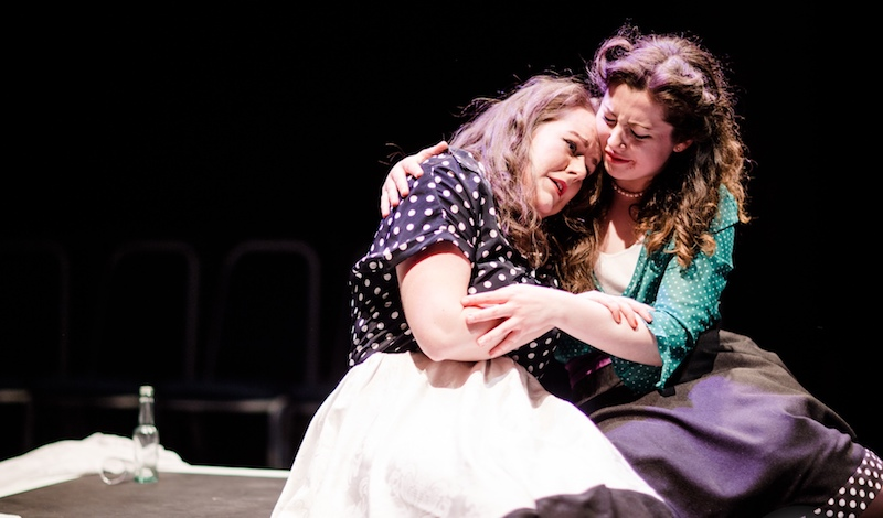 Freya Holliman and Sally Carr. Pic Andrew Perry