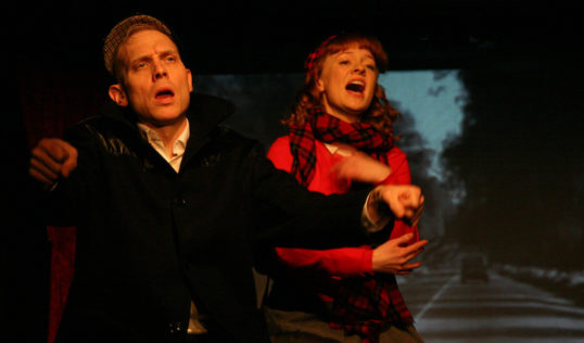 Simon Donaldson and Tori Burgess in Margaret Saves Scotland by Val McDermid. Pic: Leslie Black