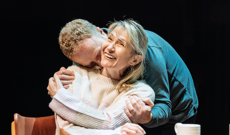Hilary Maclean (Jean) with Phil McKee (Rab) in Sunshine on Leith. Photography by Manuel Harlan