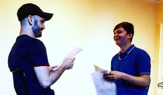 Jack Jarvis Gouther and Gregor Mackay rehearse Capital Converse. Pic: Pandorum