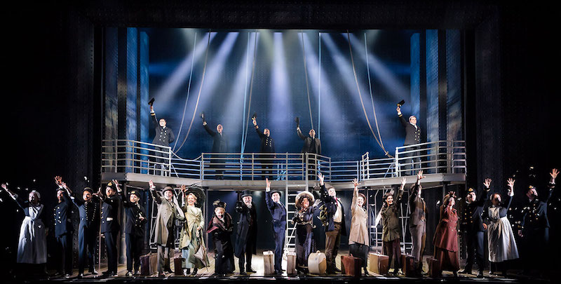 The cast of Titanic The Musical. Pic Scott Rylander