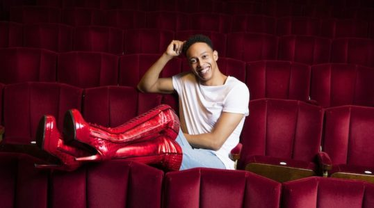 Callum Francis Lola in Kinky Boots. Image Darren Bell
