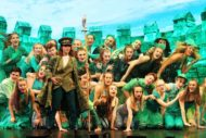 Clare Wootton (Emerald City Guard) and Ozians. Pic Beyond Broadway Productions