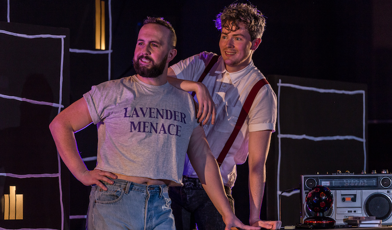 Matthew McVarish and Pierce Reid in Love Song to Lavender Menace. Photo credit – Aly Wight