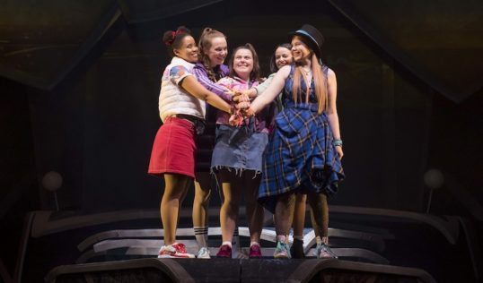 Rachelle Diedericks, Sarah Kate Howarth, Faye Christall, Lauren Jacobs and Katy Clayton in The Band. Pic Matt Crockett
