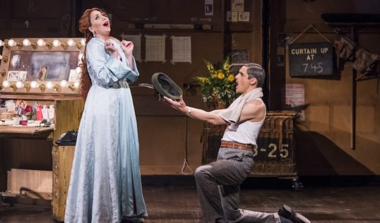 xStephanie Corley as Lilli Vanessi and Quirijn de Lang as Fred Graham. In the Opera North production of Kiss Me Kate. Pic Tristram Kenton
