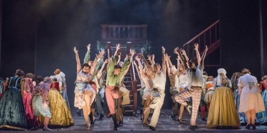 The company let rip with the hoofing in the Opera North production of Kiss Me Kate. Pic Tristram Kenton