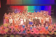 The 157-strong cast of The Wizard of Oz. Pic Beyond Broadway Productions.