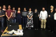 The cast and creatives of Ulster American at the Traverse. Pic: Traverse