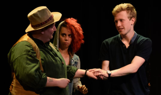 Ganymede Typecast Productions EdFringe 2018 Ash Alexander, Kiara Pascale and Isaac Allen. Pic Alex Addison