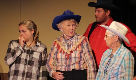Candice Sullivan, Betty Meston, David Hastie and Judith Petrie. Pic Sarah Howley A Fistful of Mondays Saughtonhall Drama